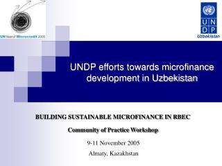 UNDP efforts towards microfinance development in Uzbekistan