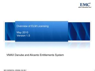 Overview of ELM Licensing May 2010 Version 1.5