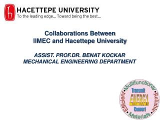ASSIST. PROF.DR. BENAT KOCKAR MECHANICAL ENGINEERING DEPARTMENT