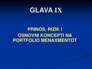 GLAVA  IX