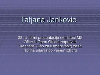 Tatjana Jankovic