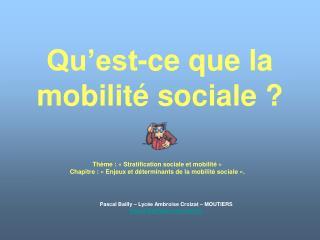 Qu est-ce que la mobilit  sociale