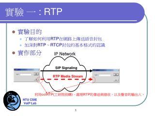 實驗 一  : RTP
