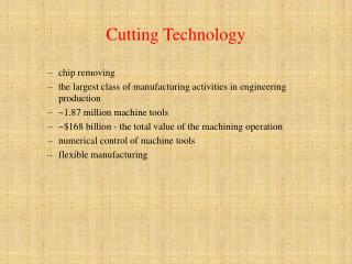 Cutting Technology