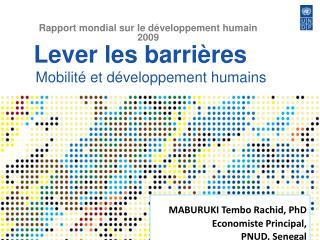 Lever les barri res    Mobilit  et d veloppement humains
