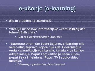 e-učenje (e-learning)