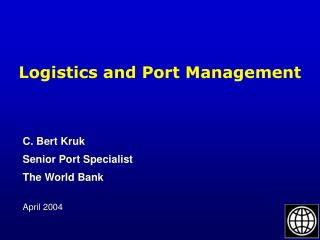 Logistics and Port Management