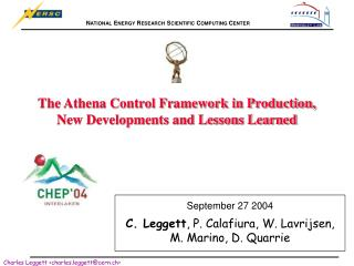 The Athena Control Framework in Production, New Developments and Lessons Learned