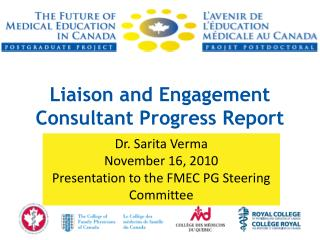 Liaison and Engagement Consultant Progress Report