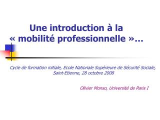 Une introduction   la    mobilit  professionnelle