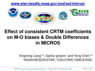 Effect of consistent CRTM coefficients on M-O biases & Double Differences  in MICROS