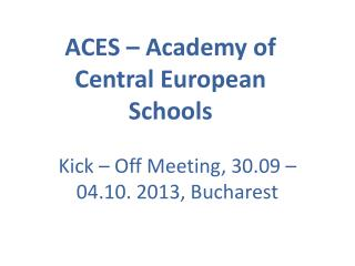 ACES – Academy of Central European Schools