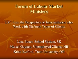 Forum of Labour Market Ministers