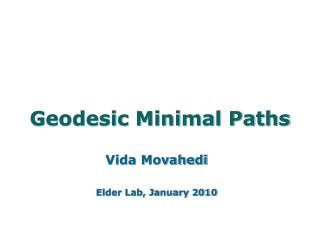 Geodesic Minimal Paths