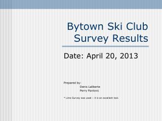 Bytown Ski Club  Survey Results
