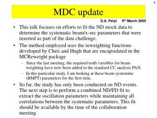 MDC update