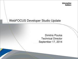 WebFOCUS Developer Studio Update