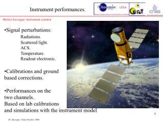 Instrument performances.