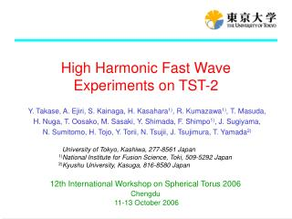 High Harmonic Fast Wave Experiments on TST-2