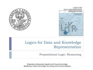 Logics for Data and Knowledge Representation
