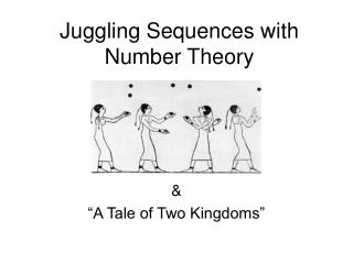Juggling Sequences with Number Theory