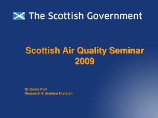 Scottish Air Quality Seminar 2009