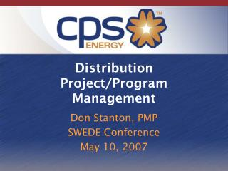 Distribution Project/Program Management