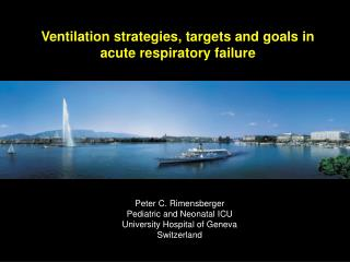 Ventilation strategies, targets and goals in acute respiratory failure