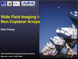 Wide Field Imaging I:  Non-Coplanar Arrays