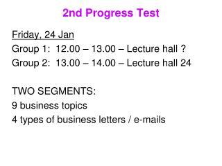 2nd Progress Test