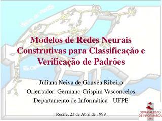 Modelos de Redes Neurais Construtivas para Classificação e Verificação de Padrões