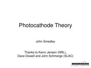Photocathode Theory