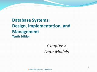 Database Systems:  Design, Implementation, and Management Tenth Edition
