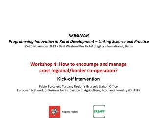 SEMINAR Programming Innovation in Rural Development – Linking Science and Practice
