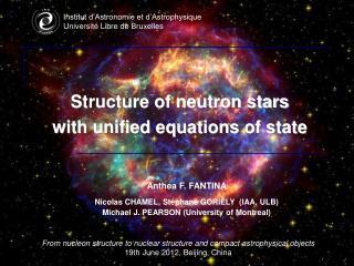 Institut d'Astronomie et d'Astrophysique Université Libre de Bruxelles