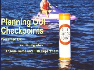 Checkpoints As A Tool