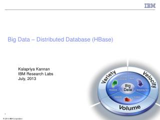 Big Data – Distributed Database (HBase)