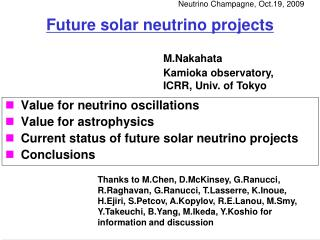 Future solar neutrino projects
