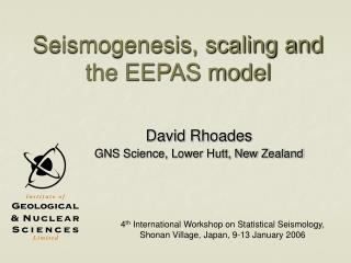 Seismogenesis, scaling and the EEPAS model