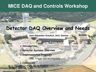 Detector DAQ Overview and Needs