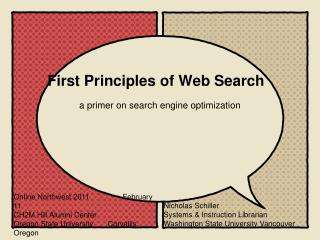 First Principles of Web Search