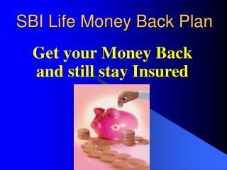 SBI Life Money Back Plan