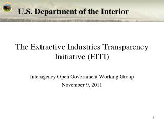 The Extractive Industries Transparency Initiative (EITI)
