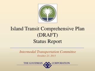 Island Transit Comprehensive Plan (DRAFT)  Status Report