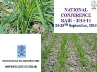 National Conference  Rabi �  2013-14 24-25 TH  September,  2013