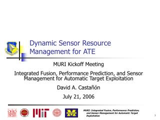 Dynamic Sensor Resource Management for ATE
