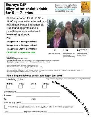 Snarøya K&F tilbyr etter skoletidklubb for 5. – 7. trinn