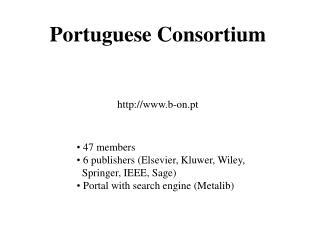 Portuguese Consortium b-on.pt