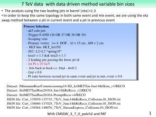 7 TeV data  with data driven method variable bin sizes