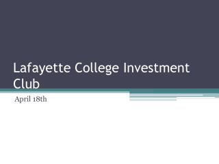 Lafayette College Investment Club